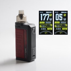 [Ships from HongKong] Authentic Voopoo Drag Max 177W VW Pod System Vape Box Mod Kit - Marsala, 5~177W, 2 x 18650, 4.5ml