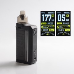 [Ships from HongKong] Authentic Voopoo Drag Max 177W VW Pod System Vape Box Mod Kit - Vintage Grey, 5~177W, 2 x 18650, 4.5ml