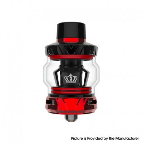 [Ships from HongKong] Authentic Uwell Crown 5 Sub Ohm Tank Vape Atomizer - Red, 5.0ml, 0.23ohm / 0.3ohm, Childlock Version
