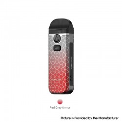 [Ships from HongKong] Authentic SMOK Nord 4 80W Pod System Vape Kit - Red Grey Armor, 2000mAh, VW 5~80W, 4.5ml