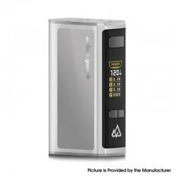 Authentic GeekVape Obelisk 120 FC Z 120W TC VW Variable Wattage Box Mod w/ Fast Charger - Silver, 5~120W, 3700mAh