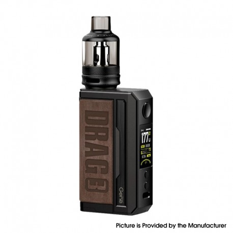[Ships from HongKong] Authentic Voopoo Drag 3 177W VW Mod + TPP Tank Kit - Sandy Brown, 5~177W, 2 x 18650