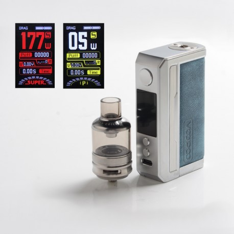 [Ships from HongKong] Authentic Voopoo Drag 3 177W VW Mod + TPP Tank Kit - Prussian Blue, 5~177W, 2 x 18650