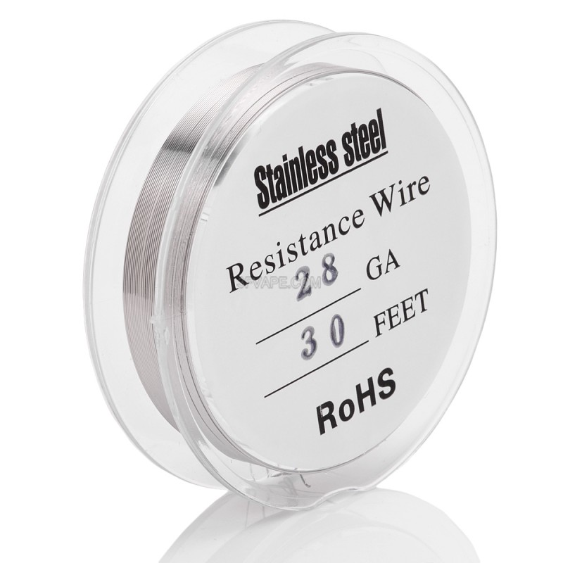 Silver 316 Stainless Steel 28 AWG Resistance Heating Wire for RBA