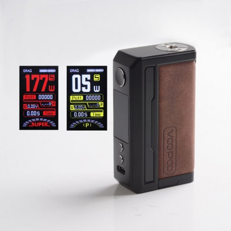 [Ships from HongKong] Authentic Voopoo Drag 3 177W VW Variable Wattage Mod - Sandy Brown, 5~177W, 2 x 18650, GENE.FAN 2.0 Chip