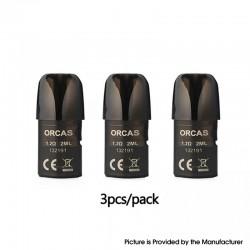 Authentic Advken Orcas Pod Kit Replacement Pod Cartridge w/ 1.2ohm Coil - 2.0ml, PCTG (3 PCS)