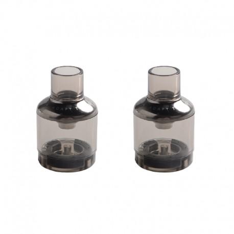 Authentic Voopoo TPP Empty Pod Cartridge for TPP Tank Atomizer / Drag 3 Kit / Drag X Plus Kit - Gun Metal, 5.5ml (2 PCS)
