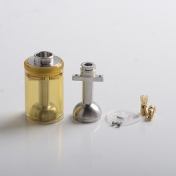 Authentic BP Mods Pioneer MTL / DL RTA Replacement Long Clear Tank Kit - Amber, 4.4ml, PCTG