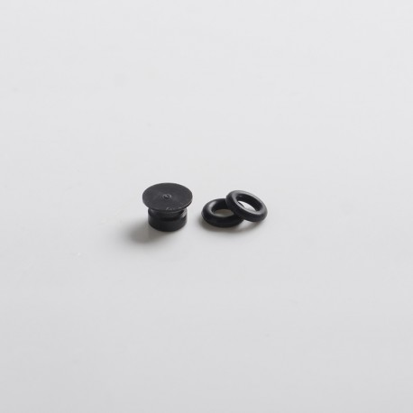 Replacement Small Button for dotMod dotAIO Vape Pod System - Black, POM (1 PC)