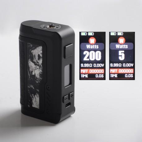 Authentic Vandy Vape Gaur-21 200W Dual 21700 Vape Box Mod - Inkstone Black, VW 5~200W, 2 x 18650 / 21700