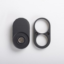 Replacement Top Cap + Bottom Plate for Armor Mech V2 Style BF Mech Mod - Black (1 PC)