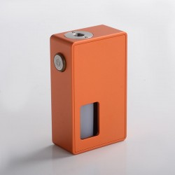 Authentic BP Mods Bushido Squonk Vape Mechanical Box Mod - Tangerine, For 22mm BF RDA, 1 x 18650