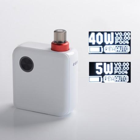 Authentic DEJAVU Pocket 40W VW Variable Wattage AIO Pod System Vape Starter Kit - White, 5~40W, 950mAh, 2.0ml, 0.6ohm / 1.0ohm