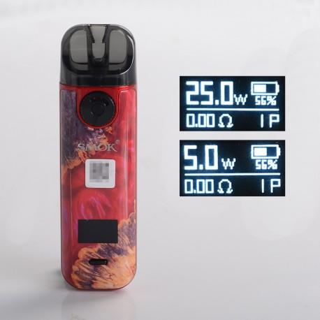Authentic SMOKTech SMOK NOVO 4 25W Pod System Starter Kit - Red Stabilizing Wood, 5~25W, 800mAh, 2.0ml Pod Cartridge, 0.8ohm
