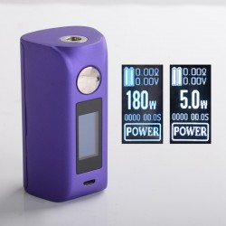 "Authentic asMODus Minikin 2 180W 1.0"" Touch Screen TC VW Variable Wattage Box Mod - Purple, 5~180W, 212~572'F, 2 x 18650"