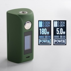"Authentic asMODus Minikin 2 180W 1.0"" Touch Screen TC VW Variable Wattage Box Mod - Army Green, 5~180W, 212~572'F, 2 x 18650"