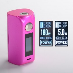 "Authentic asMODus Minikin 2 180W 1.0"" Touch Screen TC VW Variable Wattage Box Mod - Pink, 5~180W, 212~572'F, 2 x 18650"