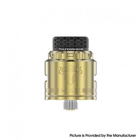 Authentic ThunderHead Creations THC Tauren MAX RDA Rebuildable Dripping Vape Atomizer w/ BF Pin - Brass, 25mm Diameter