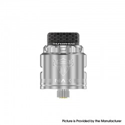 Authentic ThunderHead Creations THC Tauren MAX RDA Rebuildable Dripping Vape Atomizer w/ BF Pin - Silver, 25mm Diameter