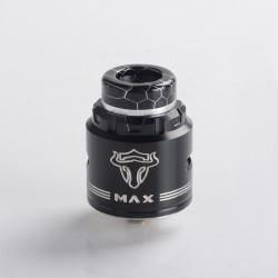 Authentic ThunderHead Creations THC Tauren MAX RDA Rebuildable Dripping Vape Atomizer w/ BF Pin - Silver Black, 25mm Diameter