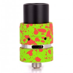Velocity Mini Style RDA Rebuildable Dripping Atomizer - Green + Red, Stainless Steel, 22mm Diameter