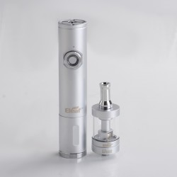 Authentic iSmoka Eleaf iJust VV Mod + BDC Atomizer Vape Kit - Silver, 3.3~4.8V, 1 x 18650 /18350, 3.7ml, 1.6ohm/1.8ohm, 23mm Dia