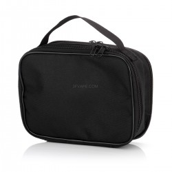 Portable Compact Handle Double-deck Storage Bag Pocket Organizer for Electronic Cigarette - Black