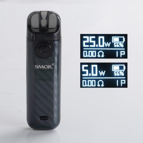 Authentic SMOKTech SMOK NOVO 4 25W Pod System Vape Starter Kit - Black Carbon Fiber, 5~25W, 800mAh, 2.0ml Pod Cartridge, 0.8ohm