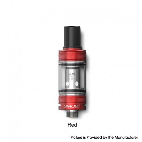 Authentic SMOKTech SMOK Gram-16 Sub Ohm Tank Clearomizer Vape Atomizer - Red, 2.0ml, 0.6ohm, 16mm Diameter