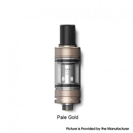 Authentic SMOKTech SMOK Gram-16 Sub Ohm Tank Clearomizer Vape Atomizer - Pale Gold, 2.0ml, 0.6ohm, 16mm Diameter