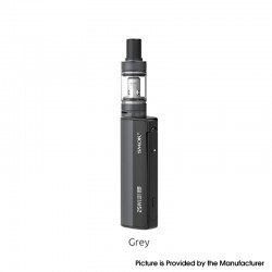 Authentic SMOKTech SMOK Gram-25 Mod + Gram-16 Tank Atomizer Vape Kit - Grey, 1~25W, 900mAh, 2.0ml, 0.6ohm, 16mm Diameter