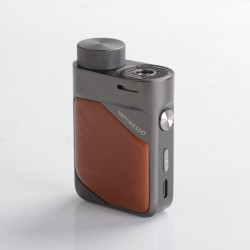 Authentic Vaporesso Swag PX80 80W VW Variable Wattage Box Mod - Leather Brown, 5~80W, 1 x 18650, AXON Chip