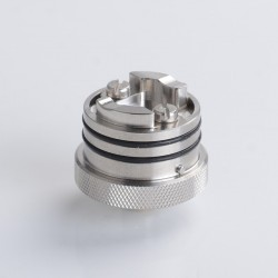 SXK Flash e-Vapor V4.5S+ Style RTA Replacement Build Deck Base - Silver, Improved Version, 22.5mm Diameter (1 PC)