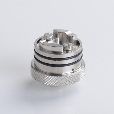 SXK Flash e-Vapor V4.5S+ Style RTA Replacement Build Deck Base - Silver, Improved Version, 22.5mm Diameter (1 PC)