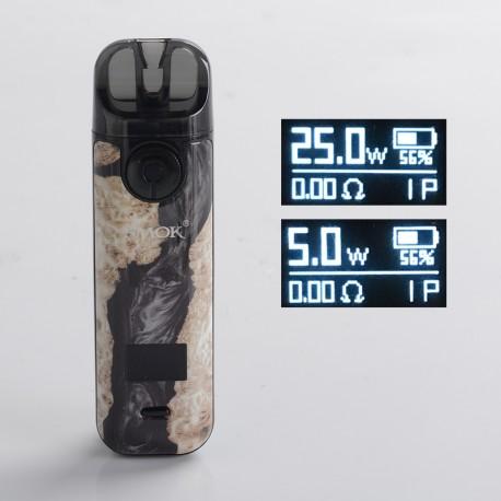 Authentic SMOKTech SMOK NOVO 4 25W Pod System Starter Kit - Black Stabilizing Wood, 5~25W, 800mAh, 2.0ml Pod Cartridge, 0.8ohm