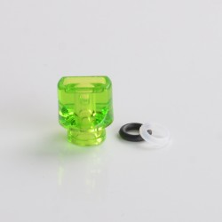 Never Normal Whistle V2 Style 510 Drip Tip for dotMod dotAIO Pod - Forest Green, PMMA