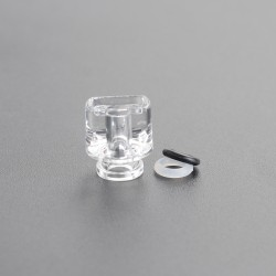Never Normal Whistle V2 Style 510 Drip Tip for dotMod dotAIO Pod - Clear, PMMA