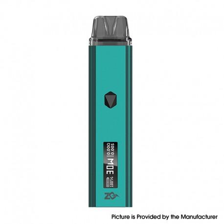 Authentic ZQ Xtal Pro 30W Pod System Vape Starter Kit - Teal, 1~30W, 1000mAh, 3.0ml Pod Cartridge