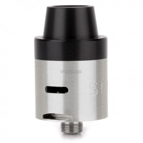 Stro Mini V2 Style RDA Rebuildable Dripping Atomizer - Silver, Stainless Steel, 22mm Diameter