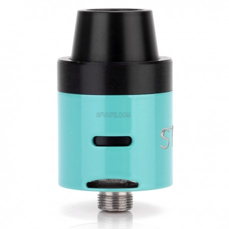 Stro Mini V2 Style RDA Rebuildable Dripping Atomizer - Blue, Stainless Steel, 22mm Diameter