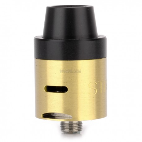 Stro Mini V2 Style RDA Rebuildable Dripping Atomizer - Brass, Stainless Steel + Brass, 22mm Diameter