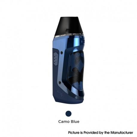 Authentic Geekvape Aegis Nano 30W Pod System Vape Starter Kit - Camo Blue, 800mAh, 2.0ml Pod Cartridge, 0.6ohm / 1.2ohm