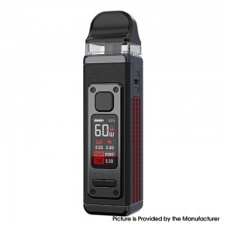 Authentic SMOKTech SMOK RPM 4 60W Pod System Vape Starter Kit - Black Leather, 5~60W, 1650mAh, 5.0ml Pod Cartridge, 0.23ohm