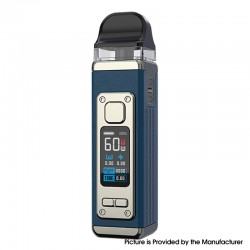 Authentic SMOKTech SMOK RPM 4 60W Pod System Vape Starter Kit - Blue Leather, 5~60W, 1650mAh, 5.0ml Pod Cartridge, 0.23ohm