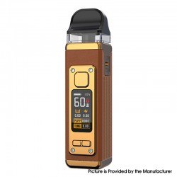 Authentic SMOKTech SMOK RPM 4 60W Pod System Vape Starter Kit - Brown Leather, 5~60W, 1650mAh, 5.0ml Pod Cartridge, 0.23ohm