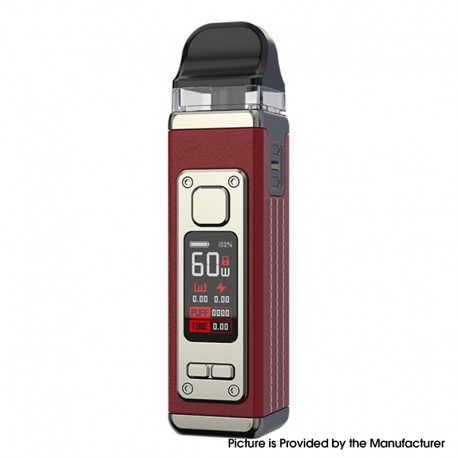 Authentic SMOKTech SMOK RPM 4 60W Pod System Vape Starter Kit - Red Leather, 5~60W, 1650mAh, 5.0ml Pod Cartridge, 0.23ohm