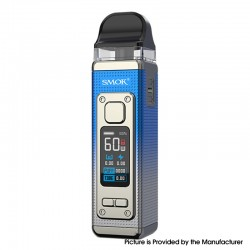 Authentic SMOKTech SMOK RPM 4 60W Pod System Vape Starter Kit - Silver Blue, 5~60W, 1650mAh, 5.0ml Pod Cartridge, 0.23ohm
