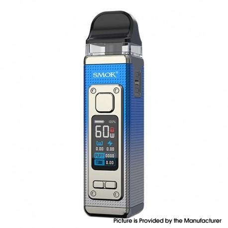 Authentic SMOKTech SMOK RPM 4 60W Pod System Vape Starter Kit - Silver Blue, 5~60W, 1650mAh, 5.0ml Pod Cartridge, 0.23ohm