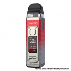 Authentic SMOKTech SMOK RPM 4 60W Pod System Vape Starter Kit - Silver Red, 5~60W, 1650mAh, 5.0ml Pod Cartridge, 0.23ohm