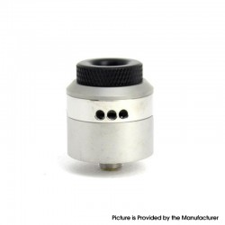 Coilturd Style RDA Rebuildable Dripping Vape Atomizer w/ BF Pin / AFC Ring - Silver, Single / Dual Coil Configuration, 24mm Dia